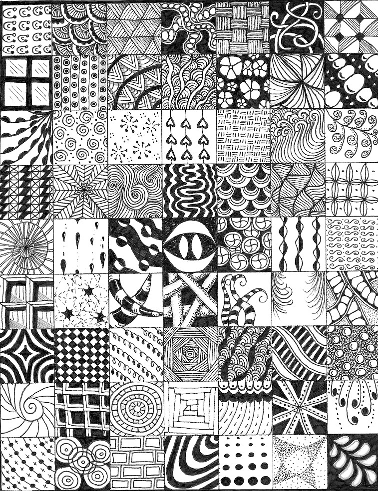 Tangle Gallery Doodle Art Club Fascinating Zendoodle Patterns