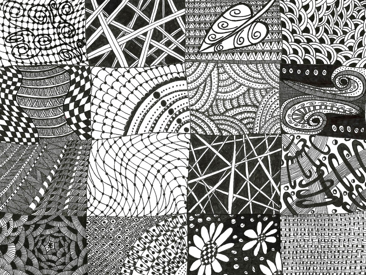 Zen Tangle Patterns Unique Decorating Design