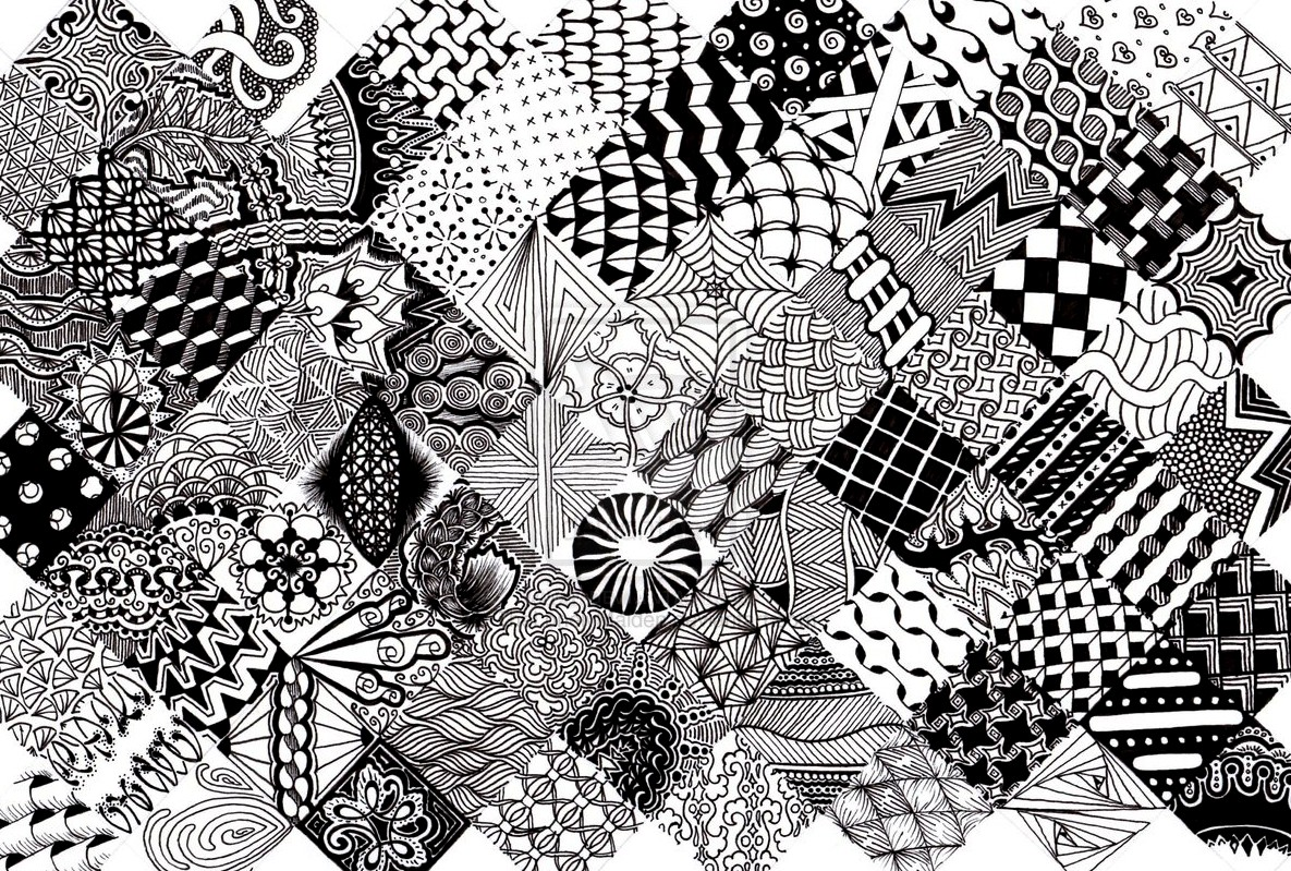 Zentangle Patterns Simple Design Ideas